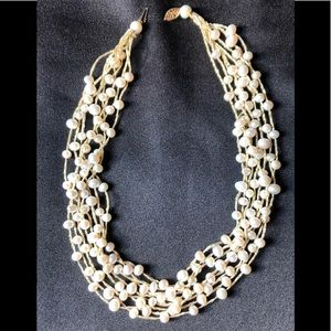 CULTURED FRESHWATER PEARL MULTI-STRAND NECKLACE